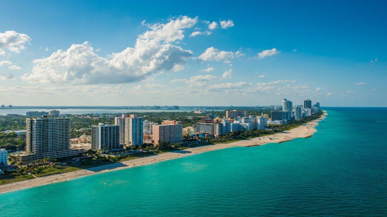 South Beach Miami Night Florida City Wallpaper