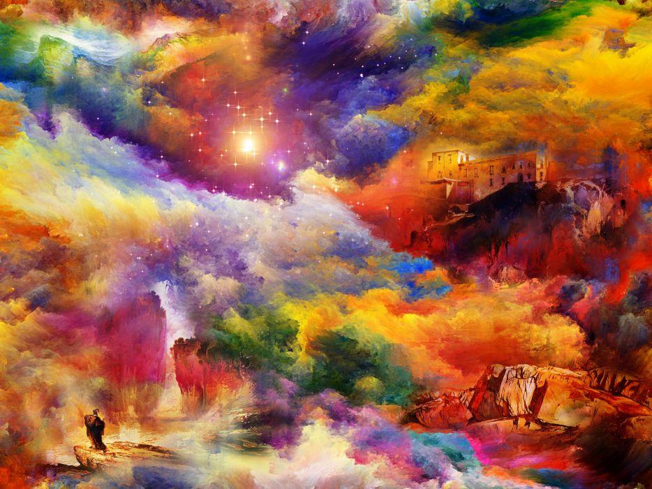 space stars nebula sci-fi fantasy wallpaper