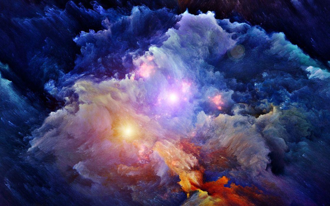stars space nebula artwork wallpaper