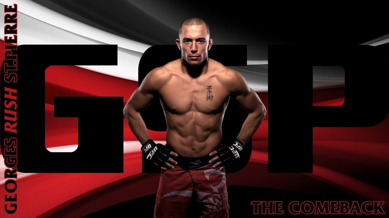 ufc georges st-pierre mma fighter martial wallpaper