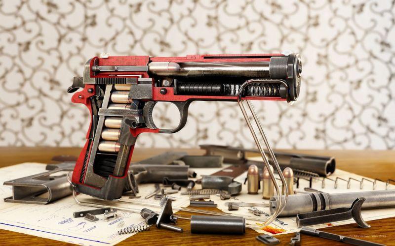 weapon gun ammo pistol military wallpaper