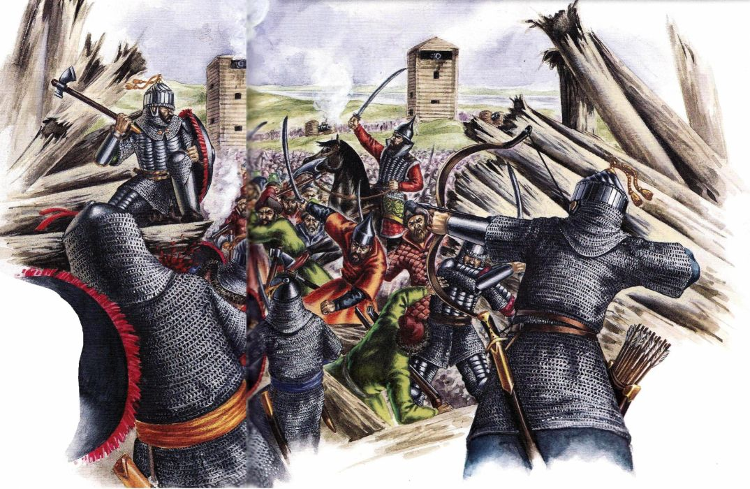 fortress war weapons armor drawing battle wallpaper