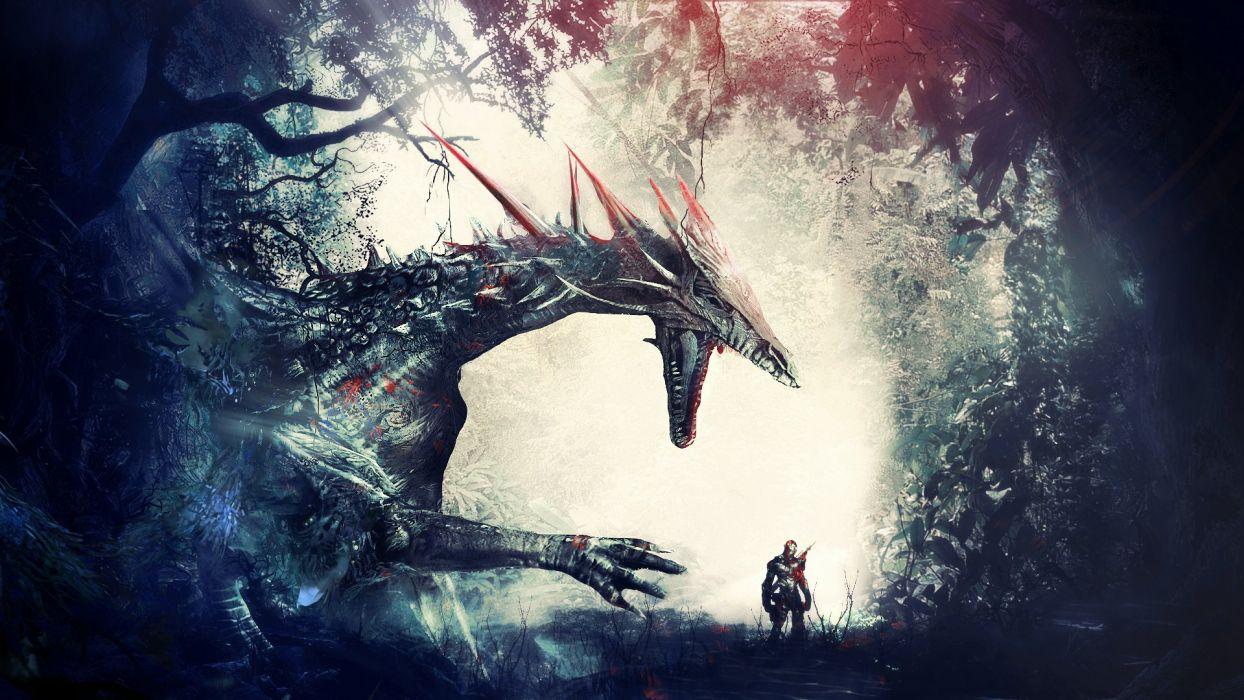 Dragon Warriors Fantasy wallpaper