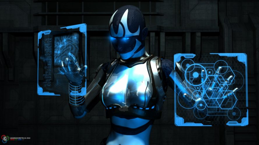 Graphics Fantasy Robot cyborg wallpaper