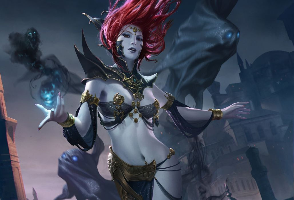 Magic Legend of the Cryptids Redhead girl Games Girls Fantasy wallpaper