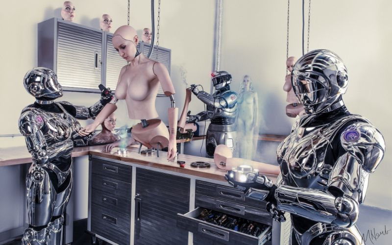 Technics Robot Fantasy cyborg creative wallpaper