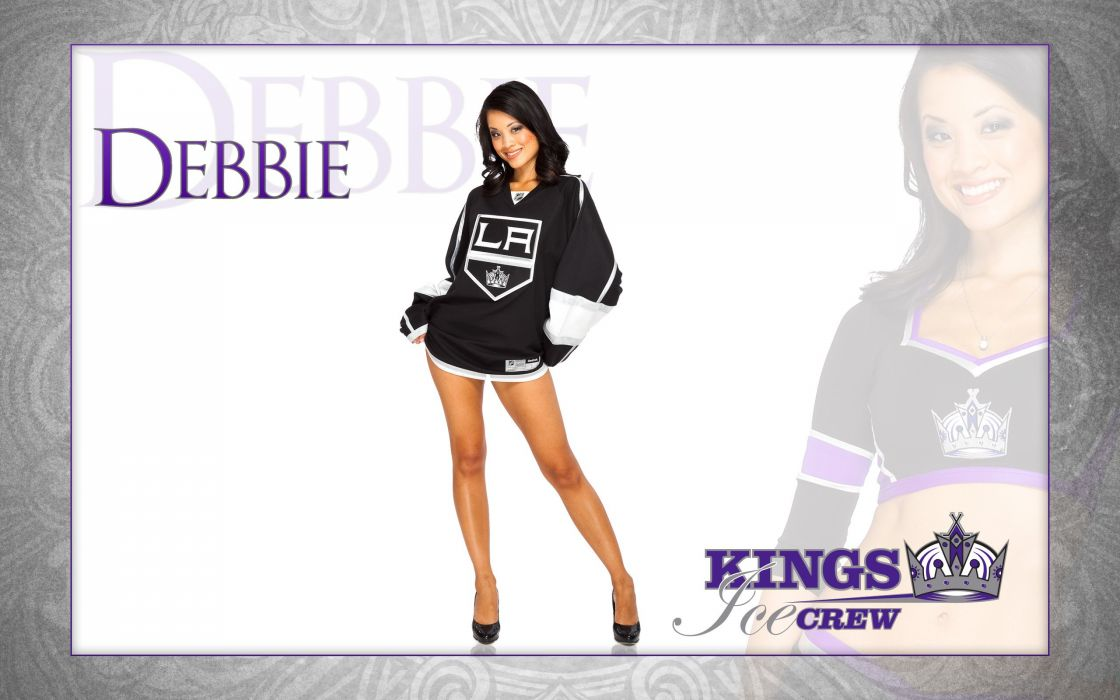 LOS-ANGELES-KINGS nhl hockey los angeles kings cheerleader sexy babe wallpaper