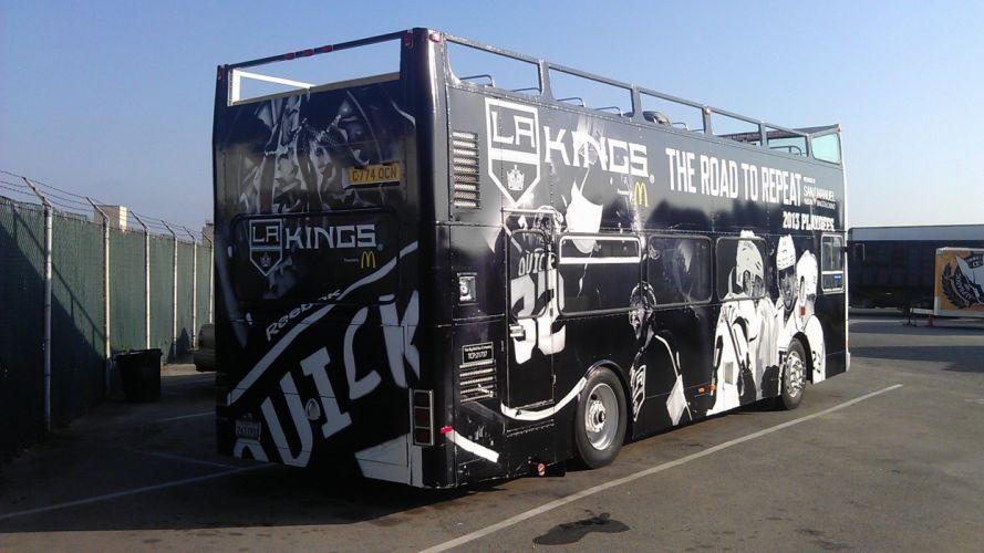 LOS-ANGELES-KINGS nhl hockey los angeles kings semi tractor bus wallpaper