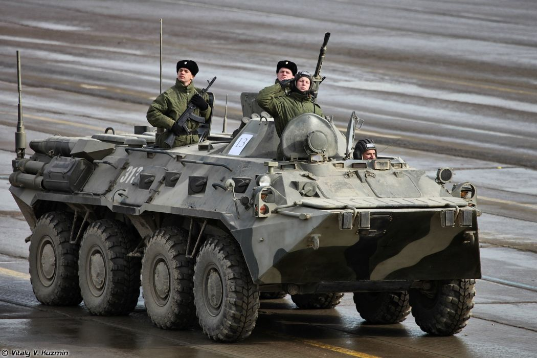 BTR-80 APC armoured April 9th rehearsal in Alabino of 2014 Victory Day Parade Russia military army russian wallpaper