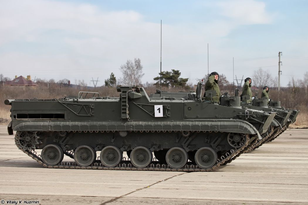 9P157-2 combat vehicle from 9K123 Khrizantema-S anti-tank missile system armoured April 9th rehearsal in Alabino of 2014 Victory Day Parade Russia military army russian wallpaper