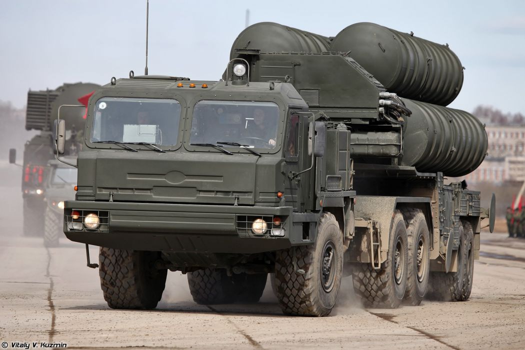 5P85T2 TEL for S-400 missile system truck April 9th rehearsal in Alabino of 2014 Victory Day Parade Russia military army russian wallpaper