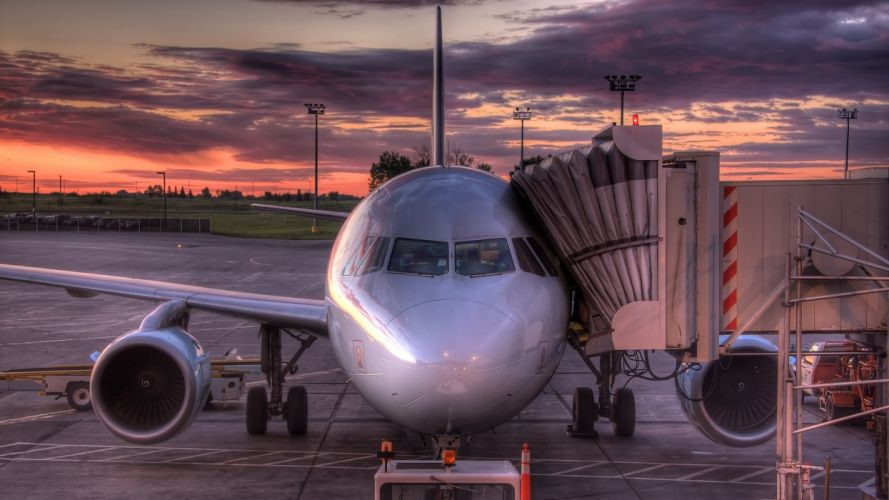 planes HDR photography wallpaper