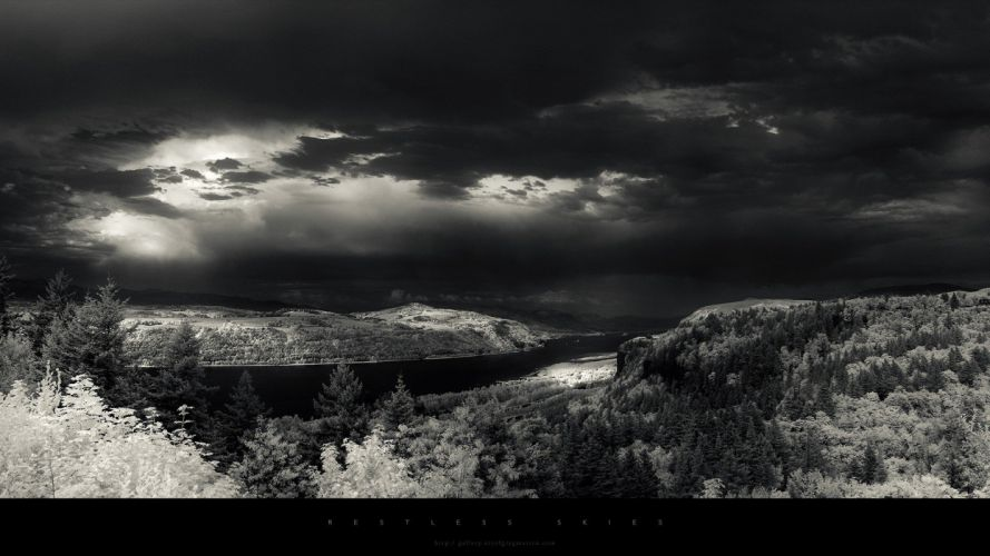 landscapes nature grayscale wallpaper