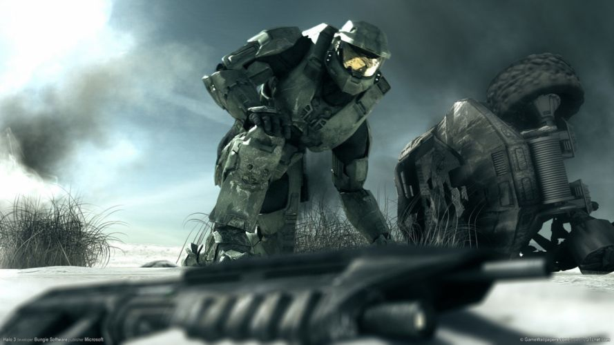 guns Halo Master Chief wallpaper