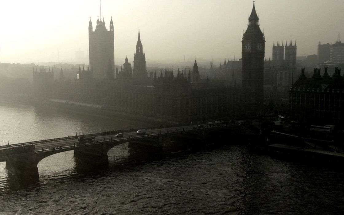 water landscapes cityscapes London bridges Big Ben rivers skyscapes Houses of Parliament wallpaper