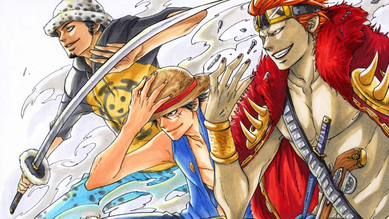 One Piece Anime Eustass Kid Monkey D Luffy Trafalgar Law