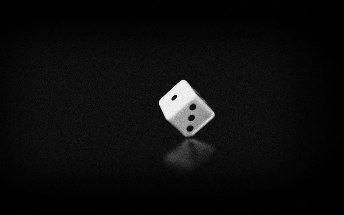 minimalistic dice black background noise wallpaper