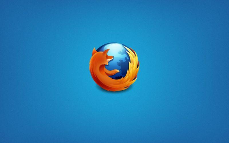 blue Firefox sandstone wallpaper