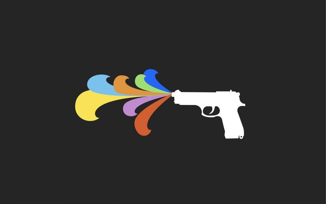 guns multicolor wallpaper
