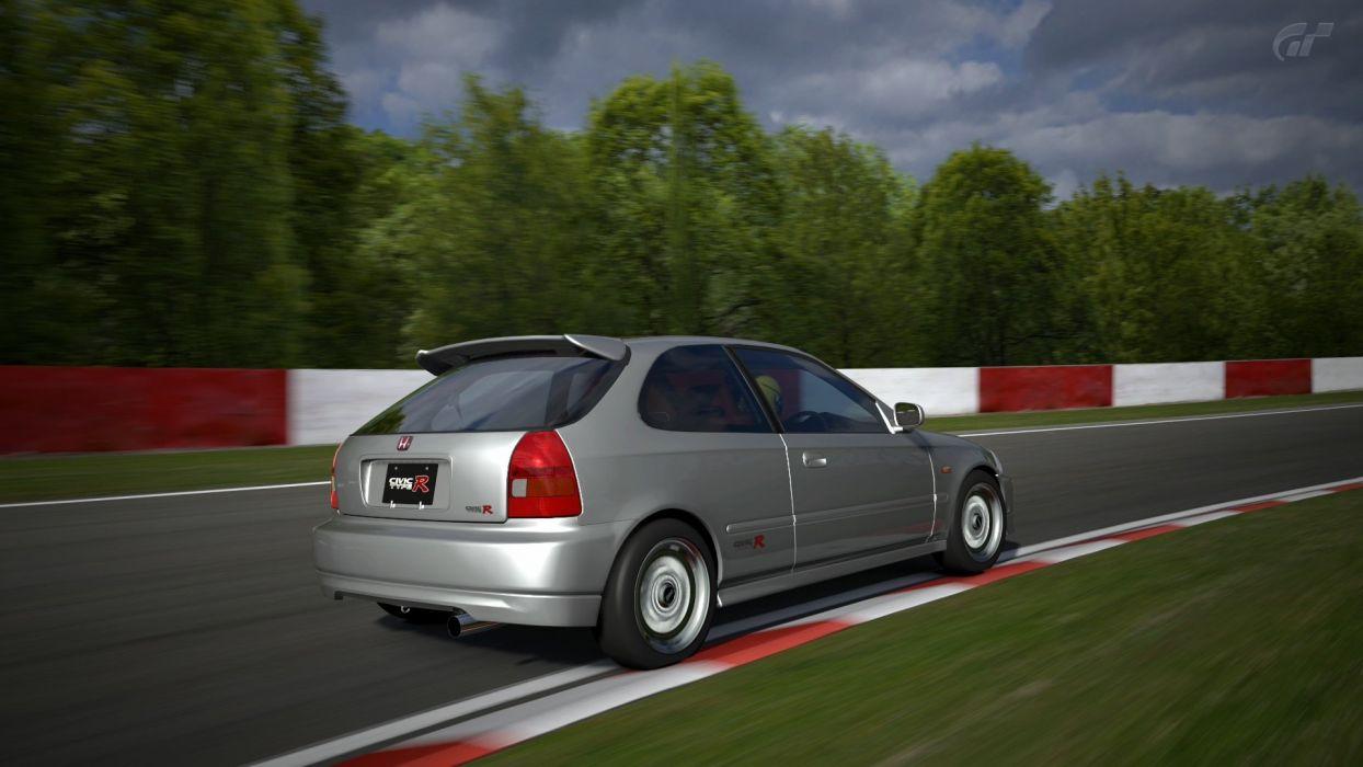 video games cars Honda Civic Type-R Gran Turismo 5 Playstation 3 wallpaper
