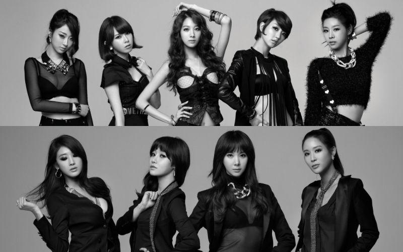 women Asians K-Pop wild nine muses wallpaper