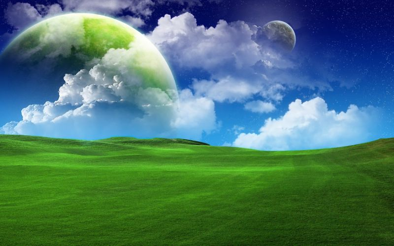 landscapes planets wallpaper