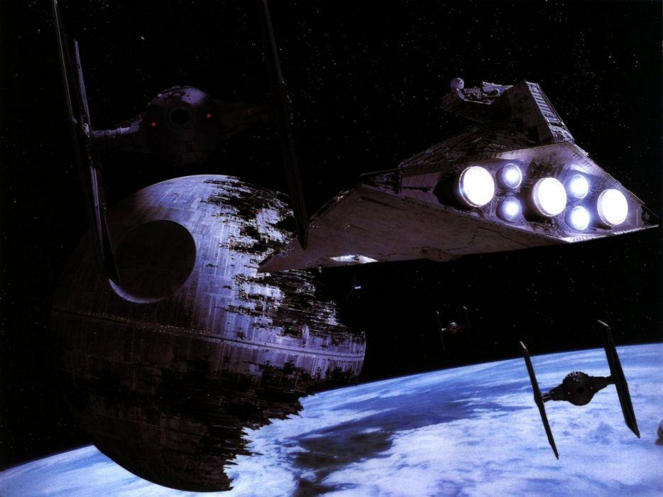 Star Wars Moon Death Star Tie fighters Star Destroyer Return of the Jedi starwars wallpaper
