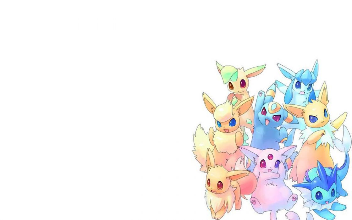 Pokemon Flareon Eevee Espeon Umbreon Vaporeon Jolteon Leafeon Glaceon wallpaper