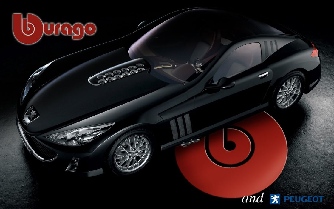 miniature burago peugeot car wallpaper