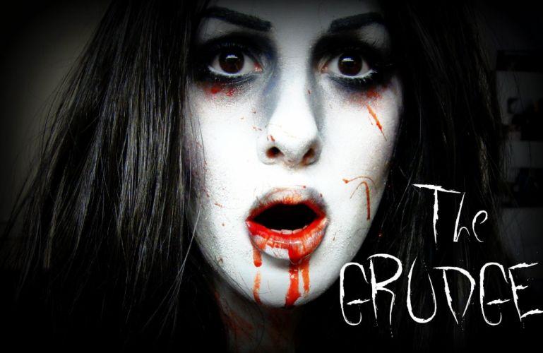 THE GRUDGE horror mystery thriller dark movie film the-grudge ju-on blood wallpaper