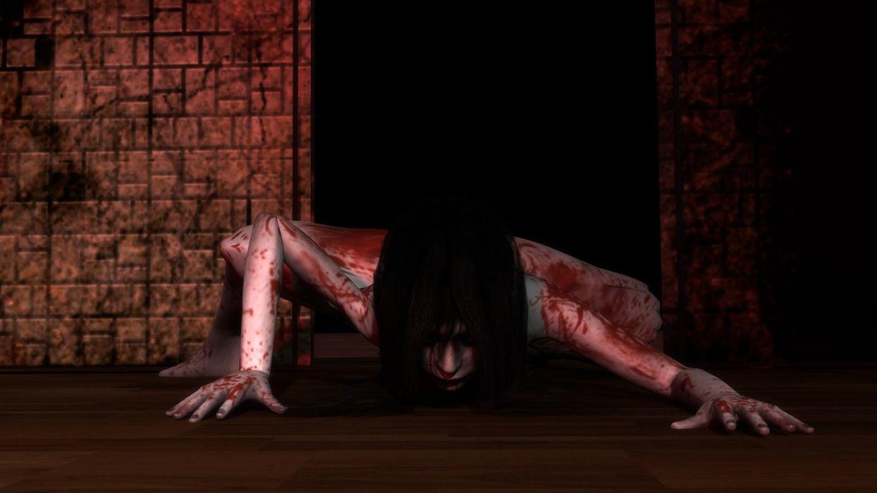 THE GRUDGE horror mystery thriller dark movie film the-grudge ju-on monster demon wallpaper