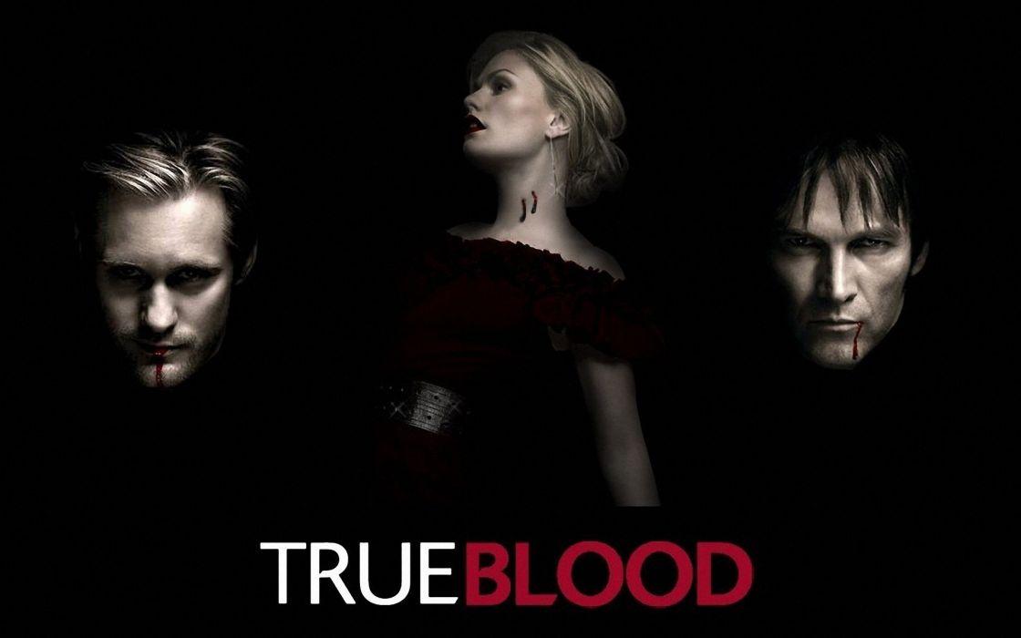 TRUE BLOOD drama fantasy mystery dark horror hbo television series vampire (21) wallpaper