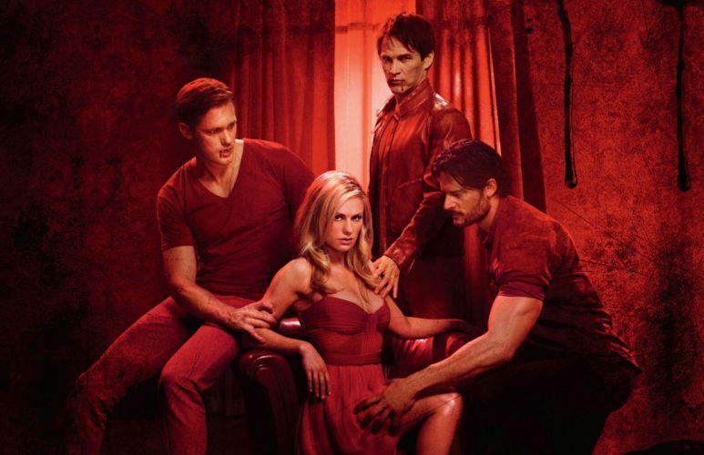 TRUE BLOOD drama fantasy mystery dark horror hbo television series vampire (15) wallpaper