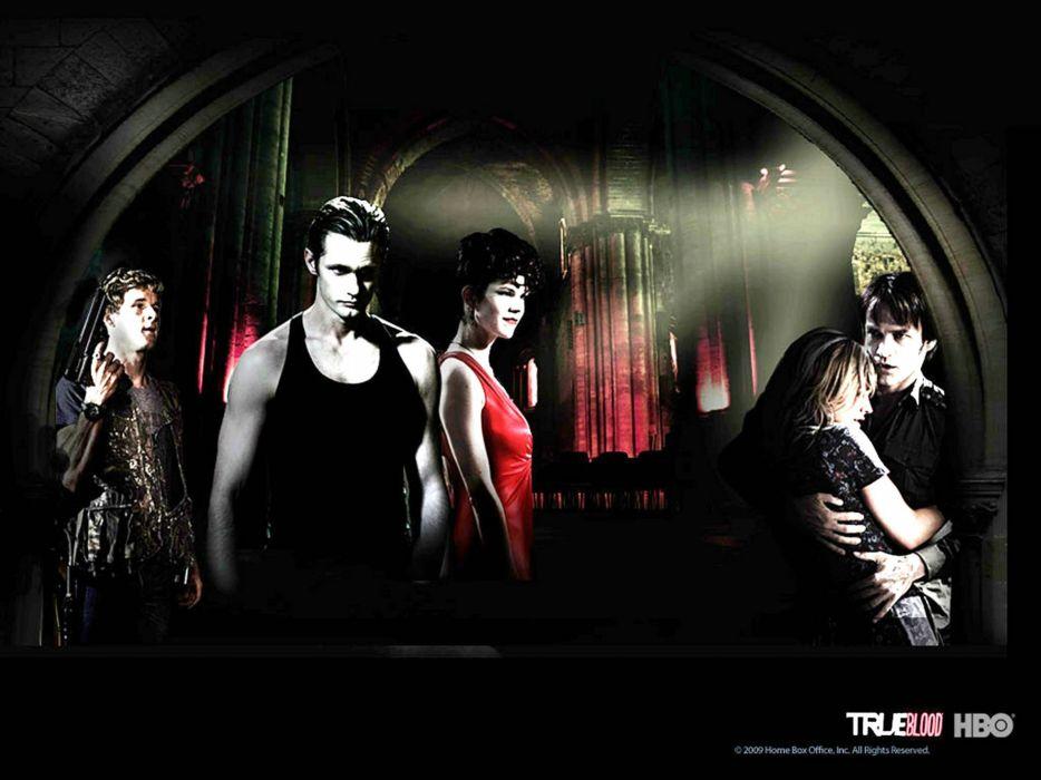 TRUE BLOOD drama fantasy mystery dark horror hbo television series vampire (49) wallpaper