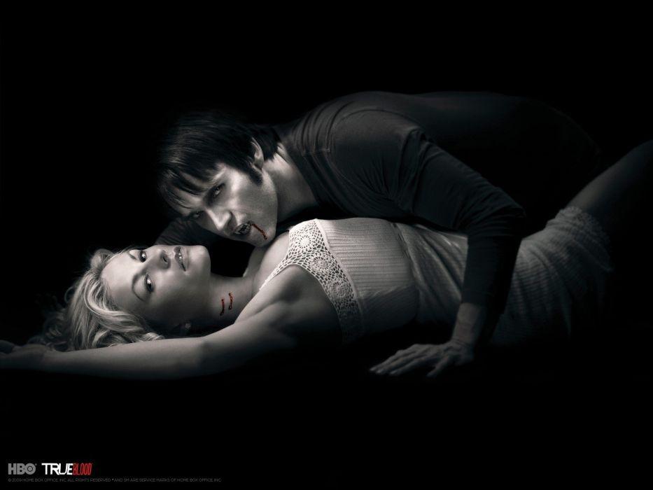 TRUE BLOOD drama fantasy mystery dark horror hbo television series vampire (58) wallpaper