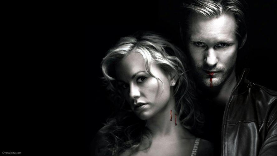 TRUE BLOOD drama fantasy mystery dark horror hbo television series vampire (61) wallpaper