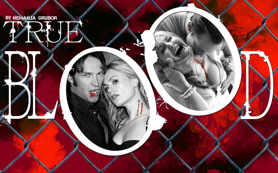 TRUE BLOOD drama fantasy mystery dark horror hbo television series vampire (31) wallpaper
