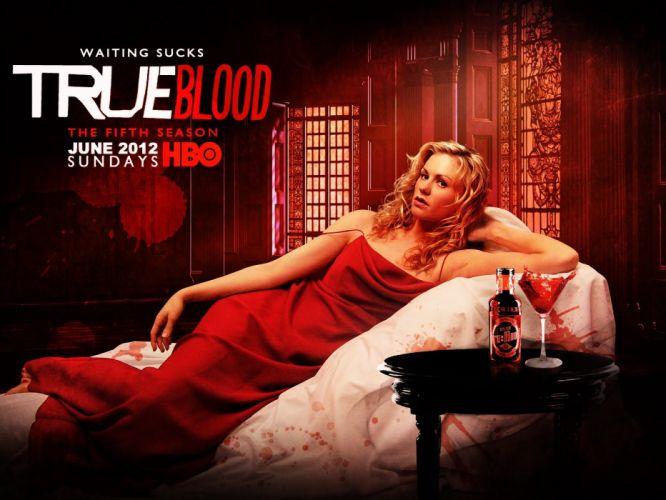 TRUE BLOOD drama fantasy mystery dark horror hbo television series vampire (28) wallpaper