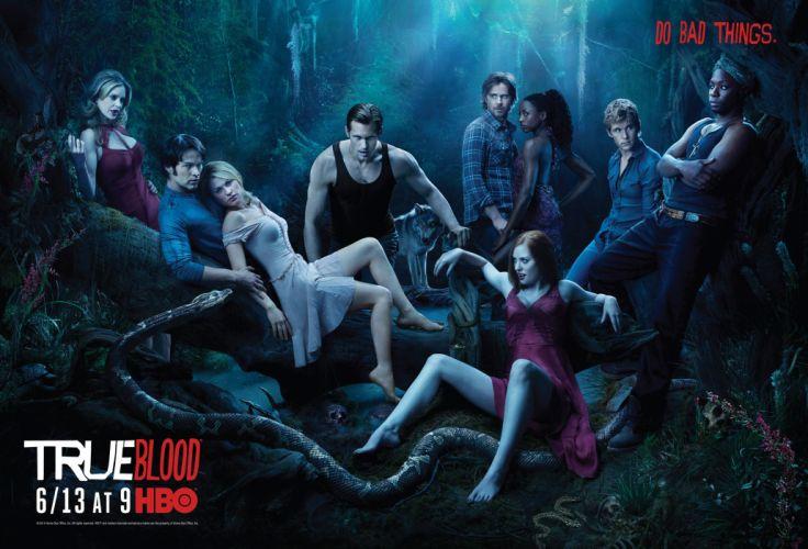 TRUE BLOOD drama fantasy mystery dark horror hbo television series vampire (37) wallpaper