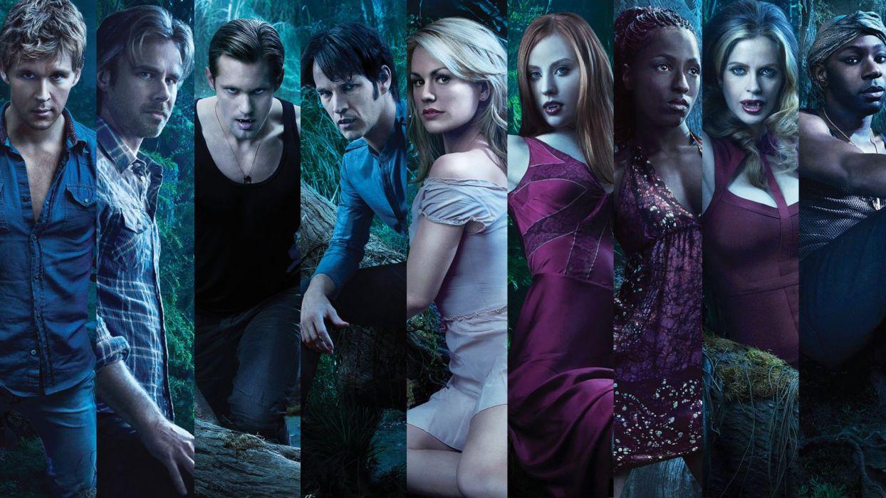 TRUE BLOOD drama fantasy mystery dark horror hbo television series vampire (82) wallpaper