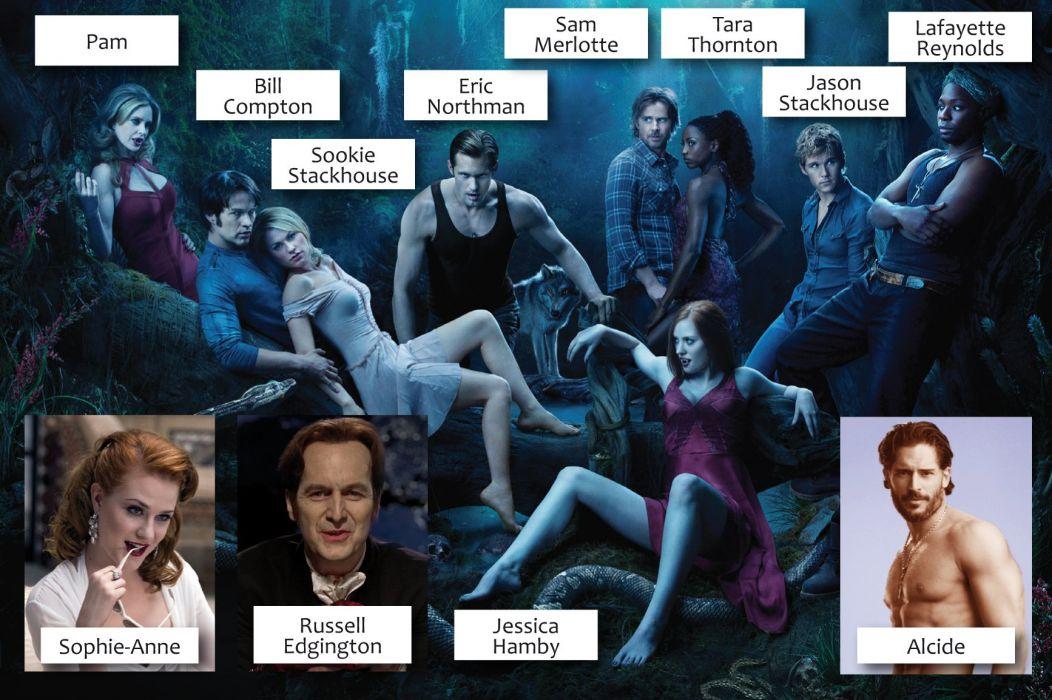 TRUE BLOOD drama fantasy mystery dark horror hbo television series vampire (83) wallpaper