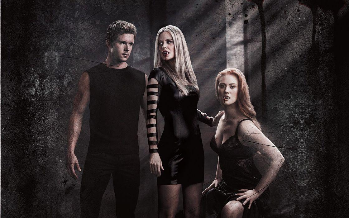 TRUE BLOOD drama fantasy mystery dark horror hbo television series vampire (177) wallpaper