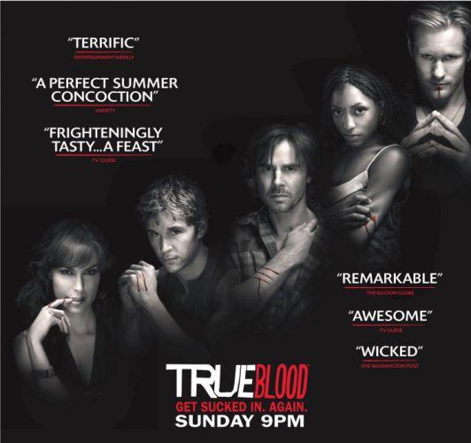 TRUE BLOOD drama fantasy mystery dark horror hbo television series vampire (14) wallpaper