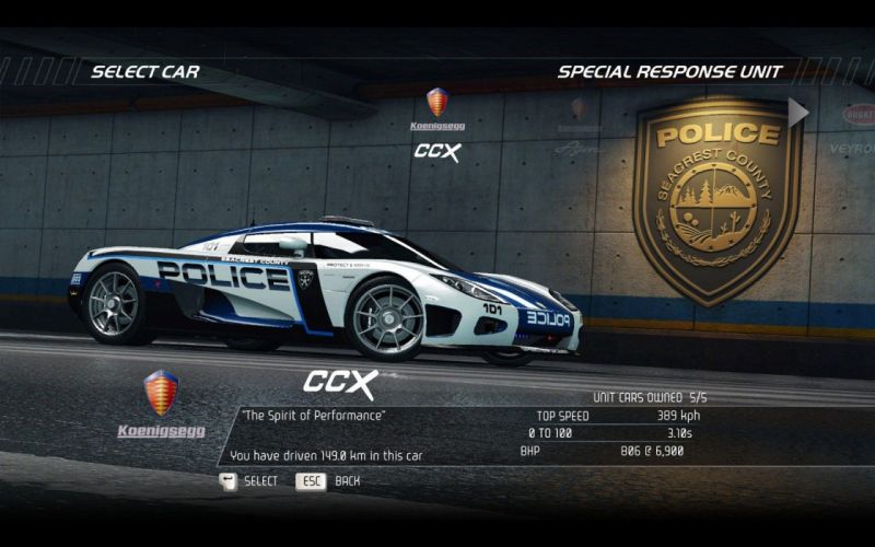 video games cars police vehicles Koenigsegg CCX Need for Speed Hot Pursuit pc games wallpaper