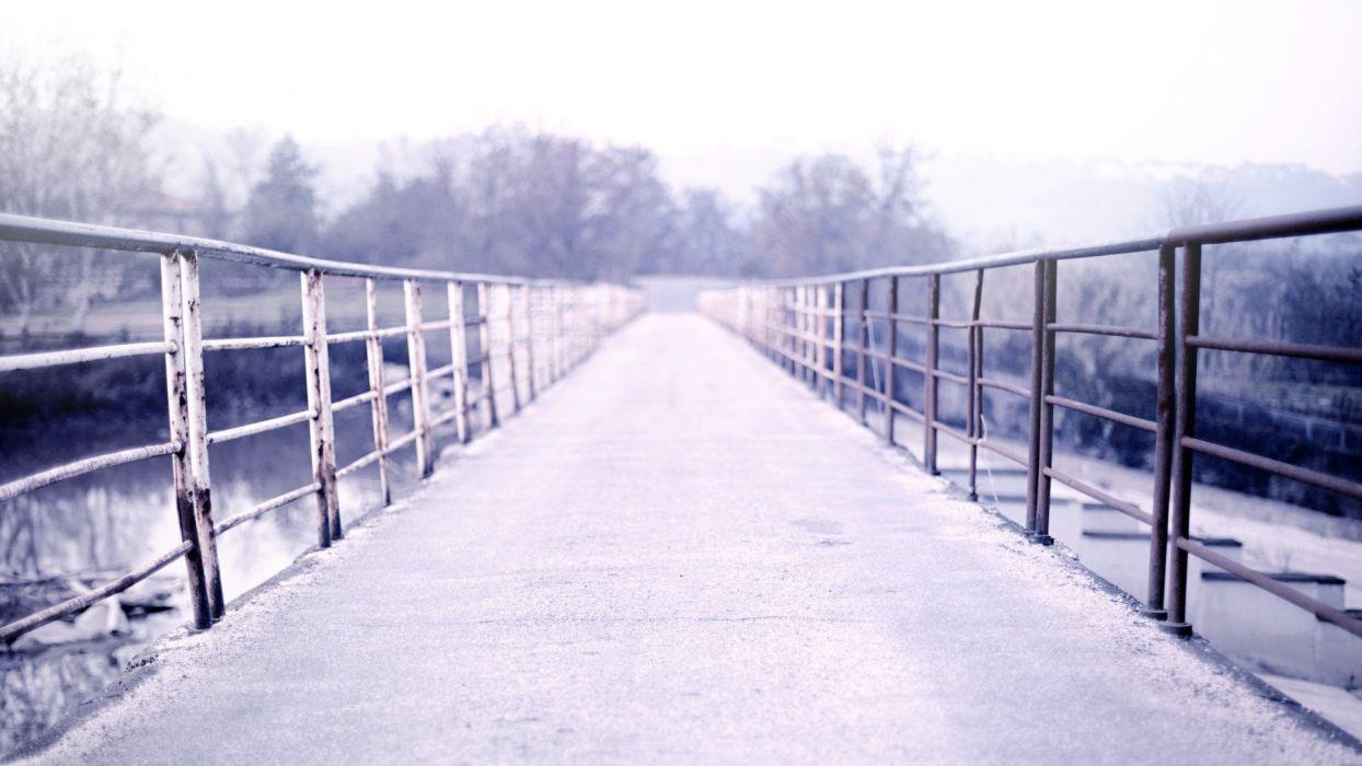 winter bridges wallpaper