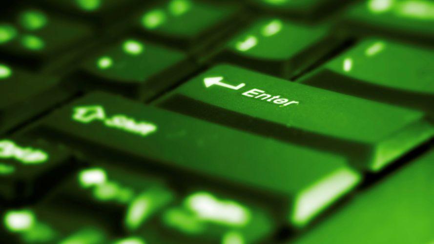 green computers keyboards wallpaper