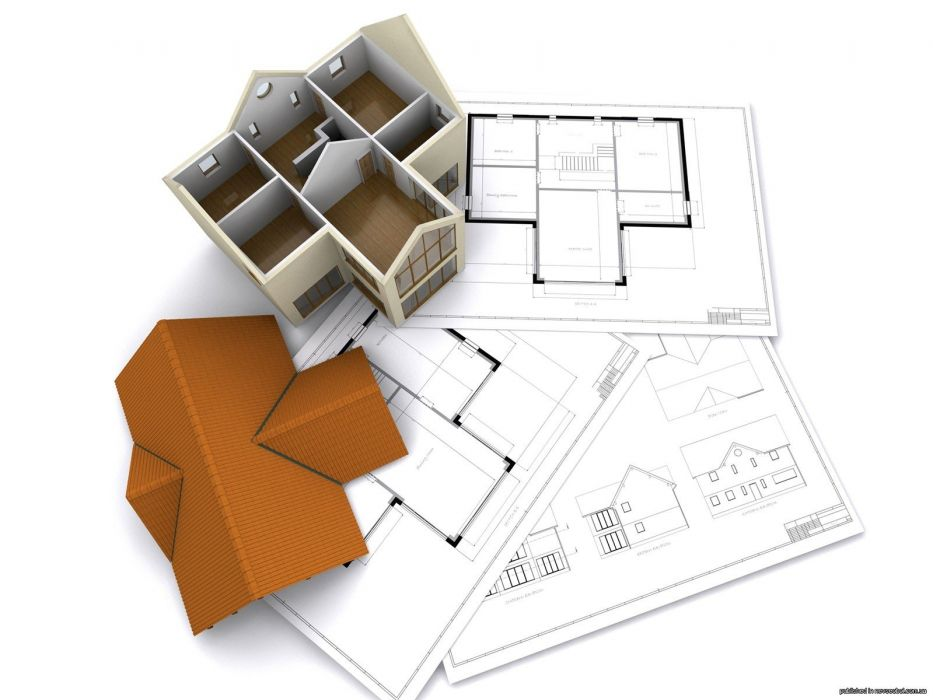 3D view white architecture houses renders wallpaper