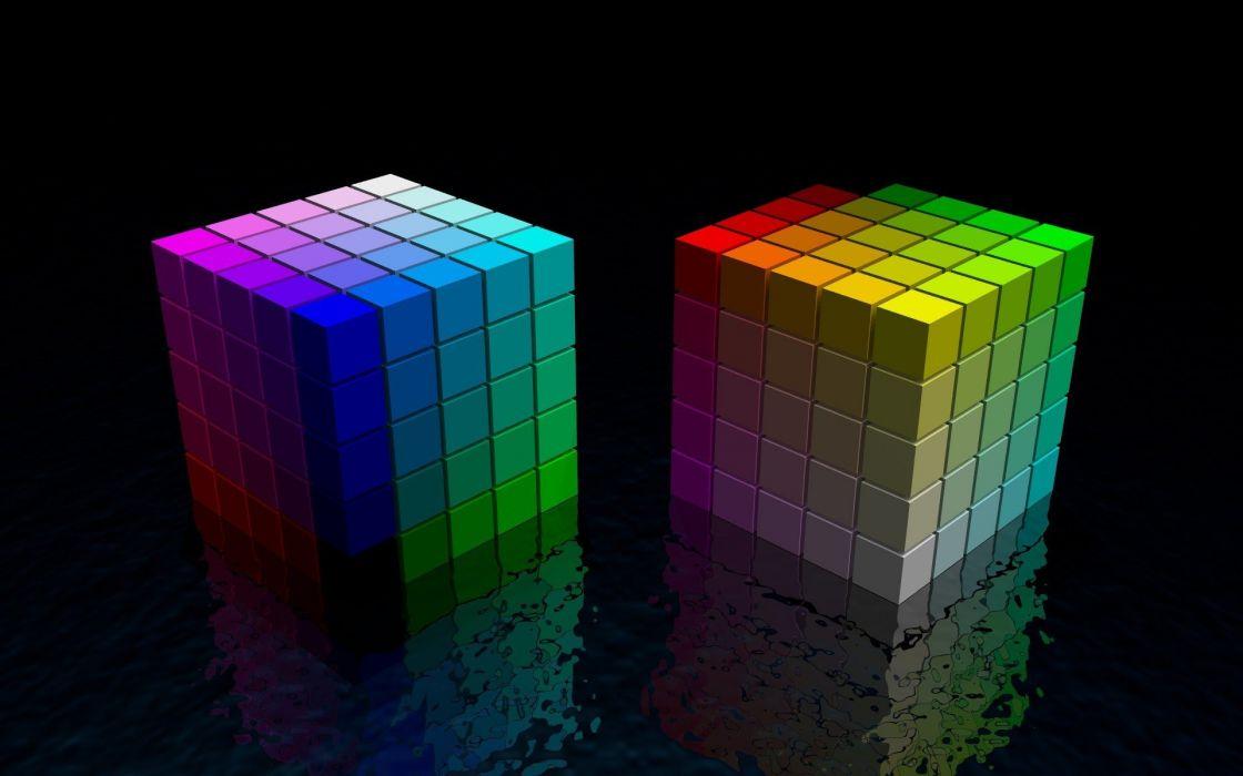 cubes digital art wallpaper