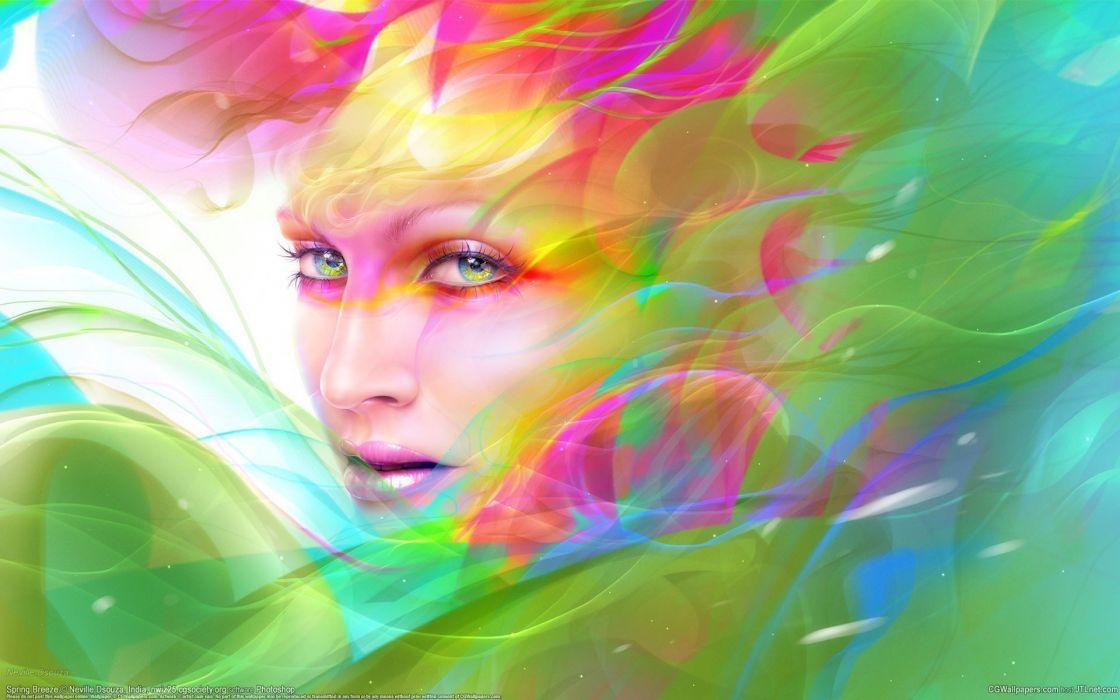 multicolor fantasy art wallpaper