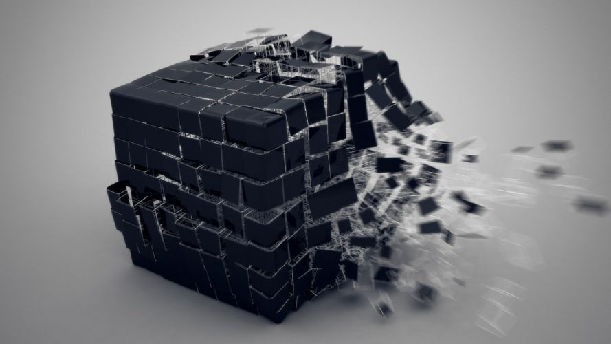 abstract explosion cube wallpaper